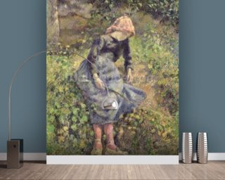 Girl with a Stick, 1881 (oil on canvas) wallpaper mural