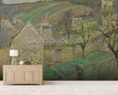 Hillside of the Hermitage, Pontoise, 1873 (oil on canvas) mural wallpaper living room preview