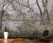 The Banks of the Oise, near Pontoise, Cloudy Weather, 1878 (oil on canvas) wall mural kitchen preview