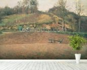 Ploughland, 1874 wallpaper mural in-room view