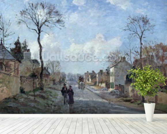 The Road to Louveciennes, 1872 (oil on canvas) wall mural room setting