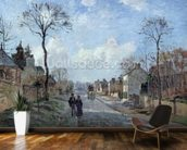 The Road to Louveciennes, 1872 (oil on canvas) wall mural kitchen preview