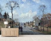The Road to Louveciennes, 1872 (oil on canvas) wall mural living room preview
