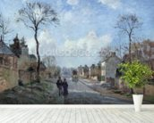 The Road to Louveciennes, 1872 (oil on canvas) wall mural in-room view