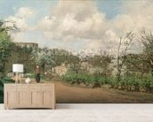 View from Louveciennes, 1869-70 (oil on canvas) mural wallpaper living room preview