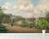 View from Louveciennes, 1869-70 (oil on canvas) mural wallpaper in-room view