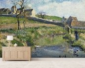 The Farm at Osny, 1883 wall mural living room preview