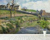 The Farm at Osny, 1883 wall mural in-room view