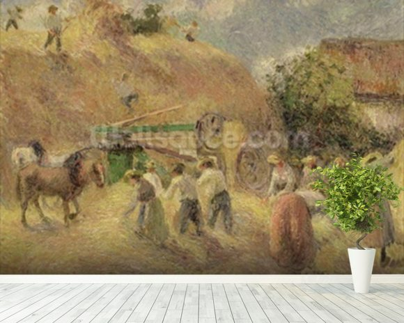 The Harvest, 1883 wallpaper mural room setting