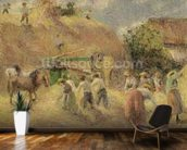 The Harvest, 1883 wallpaper mural kitchen preview