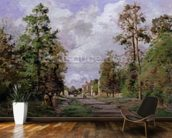 The road to Louveciennes at the edge of the wood, 1871 mural wallpaper kitchen preview