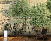 Place du Theatre-Francais, Spring, 1898 (oil on canvas) wall mural kitchen preview