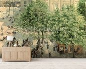 Place du Theatre-Francais, Spring, 1898 (oil on canvas) wall mural living room preview