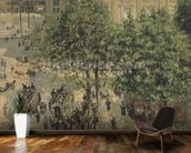 Place du Theatre-Francais, Spring, 1898 wallpaper mural kitchen preview