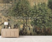 Place du Theatre-Francais, Spring, 1898 wallpaper mural living room preview