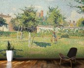 Woman in the Meadow at Eragny, Spring, 1887 (oil on canvas) mural wallpaper kitchen preview