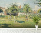 Woman in the Meadow at Eragny, Spring, 1887 (oil on canvas) mural wallpaper in-room view