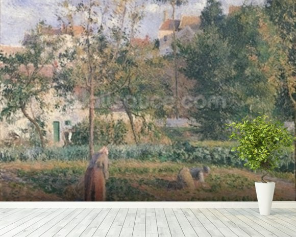Vegetable Garden at the Hermitage, Pontoise, 1879 (oil on canvas) wall mural room setting