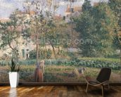Vegetable Garden at the Hermitage, Pontoise, 1879 (oil on canvas) wall mural kitchen preview
