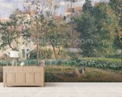 Vegetable Garden at the Hermitage, Pontoise, 1879 (oil on canvas) wall mural living room preview