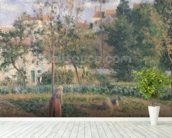 Vegetable Garden at the Hermitage, Pontoise, 1879 (oil on canvas) wall mural in-room view