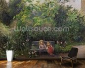 A Corner of the Garden at the Hermitage, Pontoise, 1877 (oil on canvas) wallpaper mural kitchen preview