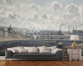 Low Tide at Duquesne Docks, Dieppe, 1902 (oil on canvas) wallpaper mural