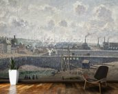 Low Tide at Duquesne Docks, Dieppe, 1902 (oil on canvas) wallpaper mural kitchen preview