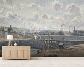 Low Tide at Duquesne Docks, Dieppe, 1902 (oil on canvas) wallpaper mural living room preview