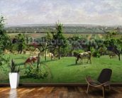 Hillside of Vesinet, Yvelines, 1871 (oil on canvas) mural wallpaper kitchen preview