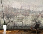 Snow Effect at Eragny, 1894 (oil on canvas) wallpaper mural kitchen preview