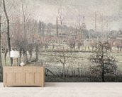 Snow Effect at Eragny, 1894 (oil on canvas) wallpaper mural living room preview