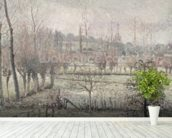 Snow Effect at Eragny, 1894 (oil on canvas) wallpaper mural in-room view
