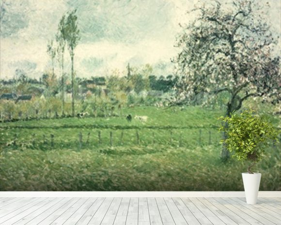 Meadow at Eragny, 1885 mural wallpaper room setting