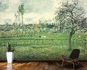 Meadow at Eragny, 1885 mural wallpaper kitchen preview