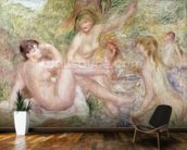 Study for the Large Bathers, 1885-1901 (oil on canvas) wall mural kitchen preview
