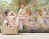 Study for the Large Bathers, 1885-1901 (oil on canvas) wall mural living room preview