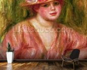 The Rose Hat or Portrait of Lady Hessling mural wallpaper kitchen preview