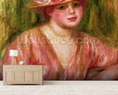The Rose Hat or Portrait of Lady Hessling mural wallpaper living room preview