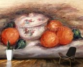 Still life with a covered dish and Oranges wall mural kitchen preview