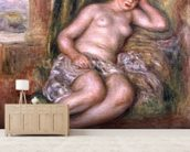 Sleeping Odalisque, or Odalisque in Turkish Slippers, c.1915-17 (oil on canvas) mural wallpaper living room preview