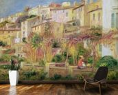Terrace in Cagnes, 1905 (oil on canvas) wallpaper mural kitchen preview