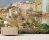 Terrace in Cagnes, 1905 (oil on canvas) wallpaper mural living room preview