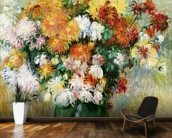 Bouquet of Chrysanthemums, c.1884 (oil on canvas) mural wallpaper kitchen preview