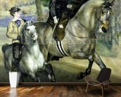Horsewoman in the Bois de Boulogne, 1873 (oil on canvas) wallpaper mural kitchen preview