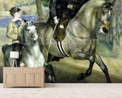 Horsewoman in the Bois de Boulogne, 1873 (oil on canvas) wallpaper mural living room preview