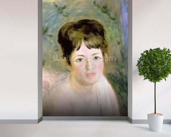 Womans Head, c.1876 (oil on canvas) wall mural room setting