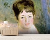 Womans Head, c.1876 (oil on canvas) wall mural living room preview