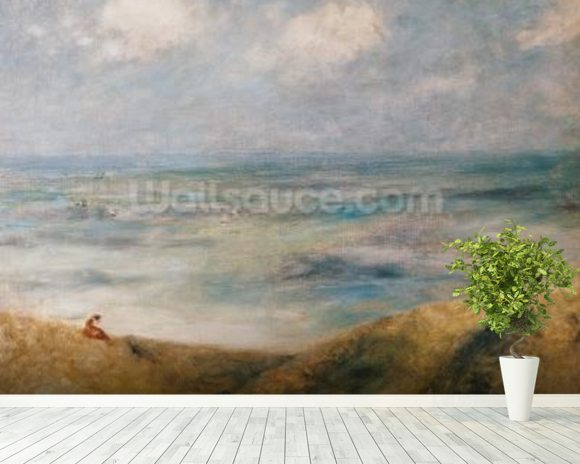 View of the Sea, Guernsey (oil on canvas) wall mural room setting