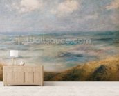 View of the Sea, Guernsey (oil on canvas) wall mural living room preview
